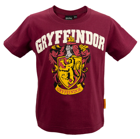 Licensed Kids Unisex Harry Potter Gryffindor T-Shirt Sizes 1 Year to 13 Years