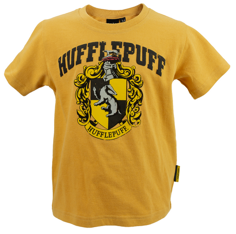 Licensed Kids Unisex Harry Potter Hufflepuff T-Shirt Sizes 1 Year to 13 Years Yellow