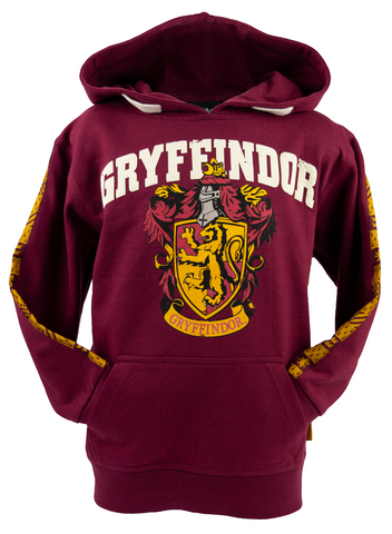 Licensed Unisex Kids Harry Potter Gryffindor Hoodie sizes 1 year to 13 years Maroon