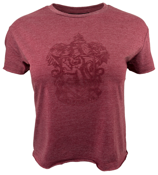 HP106LGRY Licensed Harry Potter Gryffindor Ladies/Girls Maroon Crop T-Shirt (S)