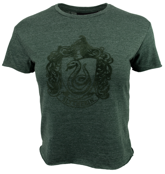 HP106LSLY Licensed Harry Potter Slytherin Ladies/Girls Green Crop T-Shirt (S)