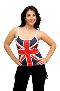 SV101 Union Jack British Flag Skinni Top T-Shirt Vest Girls Ladies