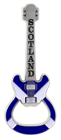 Scotland Saltire Guitar Bottle Opener Fridge Magnets