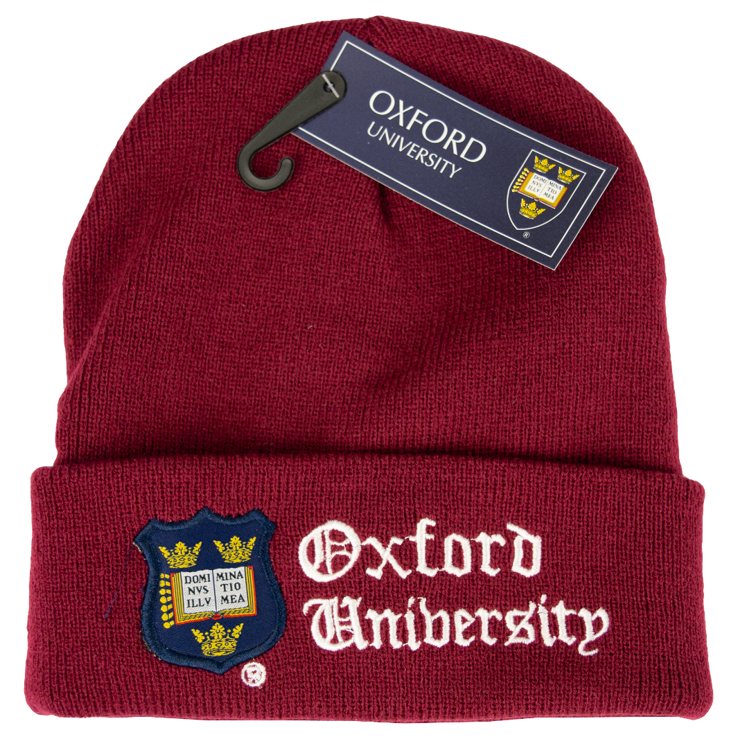 OUB101 Licensed Unisex Oxford University Ski Hat Maroon - British Heritage Brands