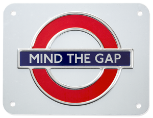 TFL3104 Licensed Mind the Gap Metal Sign Medium Size - British Heritage Brands