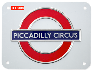 TFL3108 Licensed Piccadilly Circus Roundel Metal Sign Medium Size - British Heritage Brands