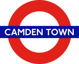 TFL5105 Licensed Camden Town Roundel Vinyl Sticker - British Heritage Brands