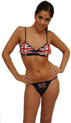 BK101 Union Jack Bra & Thong Set - British Heritage Brands