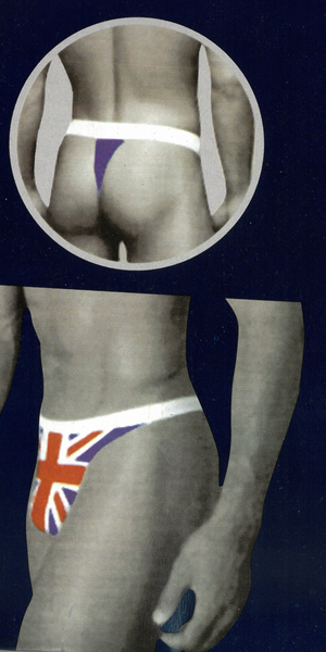 Mens Union Jack British Flag Thong Size L/XL - British Heritage Brands
