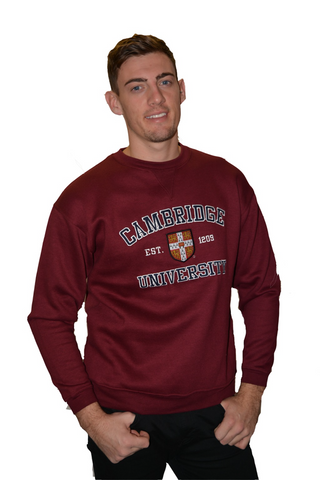 Licensed Cambridge University™ Unisex Sweatshirt Maroon Colour - British Heritage Brands