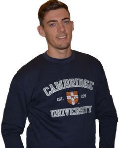 Licensed Cambridge University Unisex Sweatshirt Navy Colour - British Heritage Brands