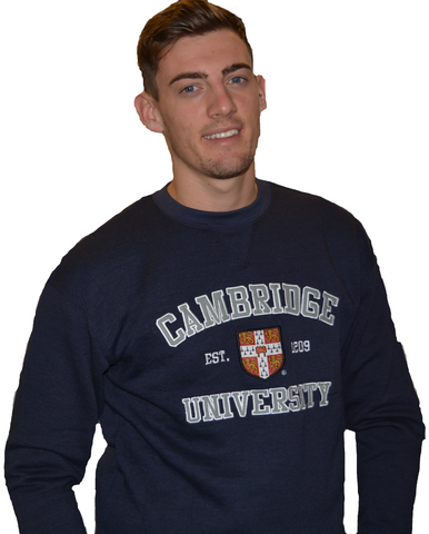 Licensed Cambridge University™ Unisex Sweatshirt Navy Colour - British Heritage Brands