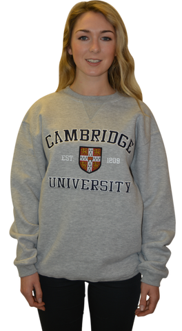 Licensed Cambridge University™ Unisex Sweatshirt Sports Grey Colour - British Heritage Brands