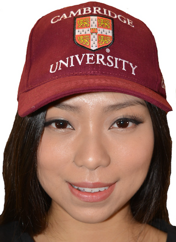 Licensed Cambridge University Baseball Cap Maroon Colour - British Heritage Brands