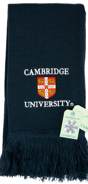 Licensed Cambridge University Navy Scarf - British Heritage Brands