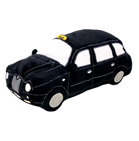 Licensed London Black Taxi Plush Cushion (HRD-Tax) - British Heritage Brands
