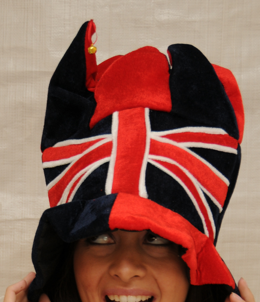 J101 Union Jack Jester hats with Bells - British Heritage Brands