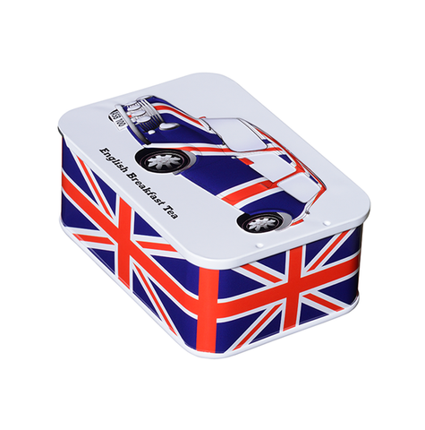 Union Jack Tin 10 English Breakfast Teabags (JFUNCAR) by Heritage Cars - British Heritage Brands