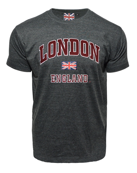 LE105CM Unisex London england Applique Embroidery T Shirt - British Heritage Brands