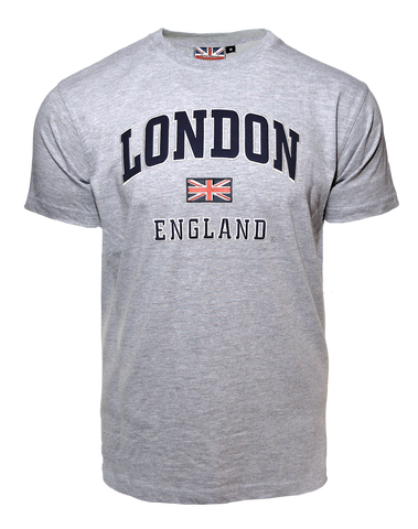 LE105GN Unisex London england Applique Embroidery T Shirt - British Heritage Brands