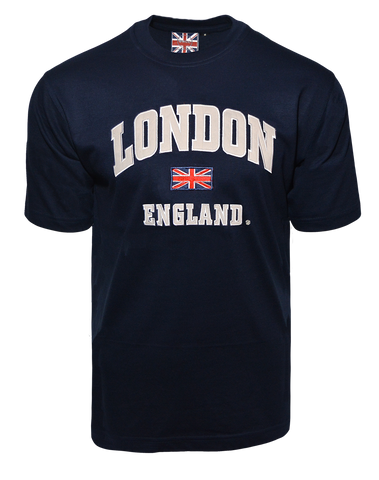 LE105NG Unisex London England Applique Embroidery T Shirt - British Heritage Brands