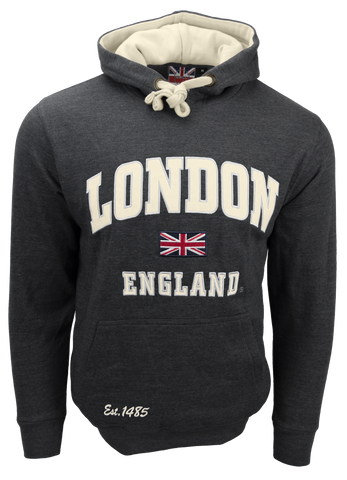 Unisex London England Hoodie Hooded Sweatshirt Charcoal New 2020 Colour - British Heritage Brands