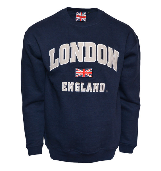 LE201NG Unisex London England Sweatshirt Navy Grey XS-2XL - British Heritage Brands