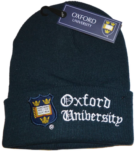 OUB101 Licensed Unisex Oxford University Ski Hat Navy - British Heritage Brands