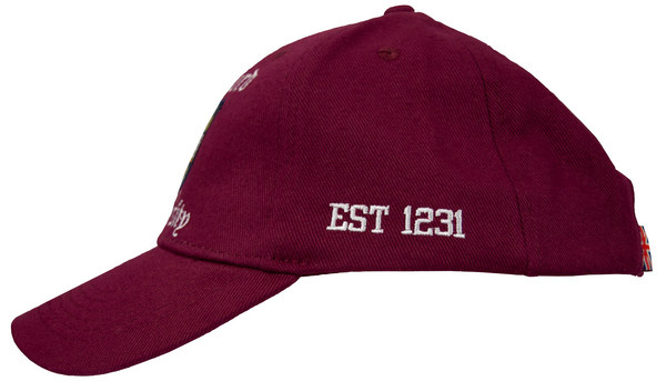 Licensed Oxford University Baseball Cap Maroon - British Heritage Brands