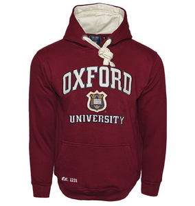OU129 Licensed Unisex Oxford University Hooded Sweatshirt Maroon - British Heritage Brands