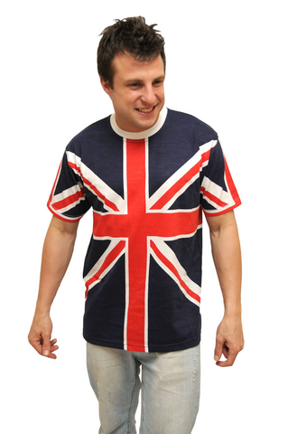 Unisex Union Jack British Flag T-Shirt Sizes - British Heritage Brands