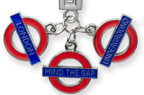 TFL2001 Licensed Underground Charm Bar Keyring - British Heritage Brands