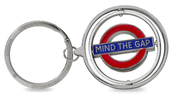 TFL2008 Licensed Spinning Mind the Gap Roundel Keyring - British Heritage Brands