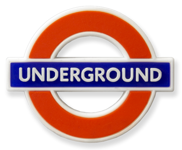 TFL3001 Licensed Underground Rubber Fridge Magnet - British Heritage Brands