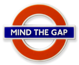 TFL3002 Licensed Mind the Gap Ductile/Rubber Fridge Magnet - British Heritage Brands