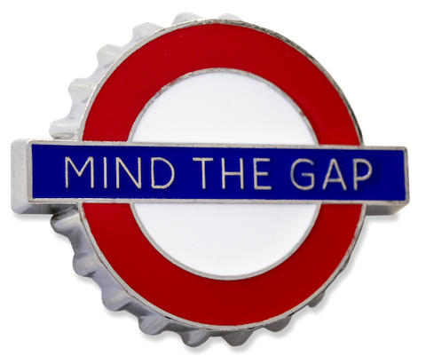 TFL3008 Licensed Mind the Gap Bottle opener Fridge Magnet - British Heritage Brands