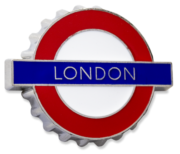 TFL3009 Licensed London Roundel Bottle opener Fridge Magnet - British Heritage Brands