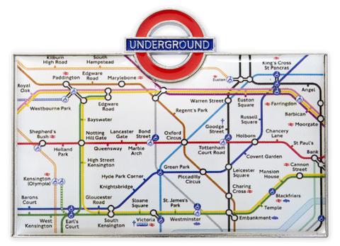 TFL3010 Licensed Underground Tube Map Fridge Magnet White - British Heritage Brands