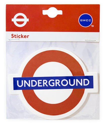 TFL5112 Licensed Leicester Square Roundel Vinyl Sticker - British Heritage Brands
