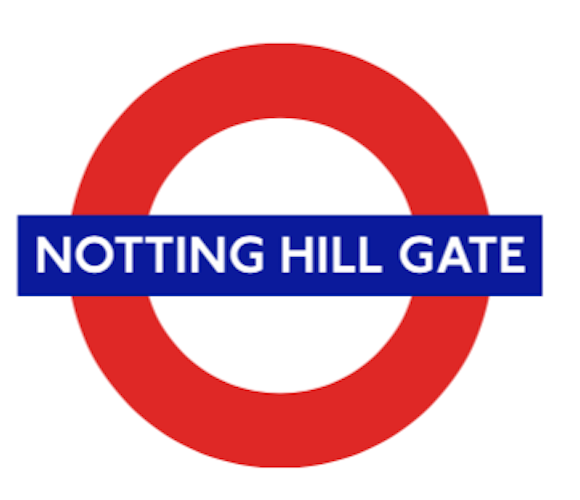 TFL5106 Licensed Notting Hill Gate Roundel Vinyl Sticker - British Heritage Brands