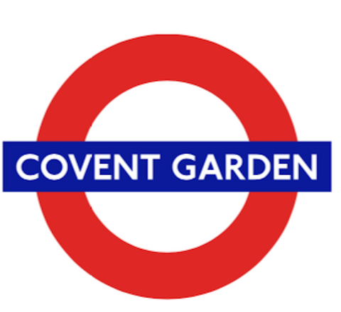 TFL5107 Licensed Famous Covent Garden Roundel Vinyl Sticker - British Heritage Brands