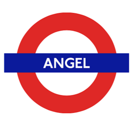 TFL5111 Licensed Angel Roundel Vinyl Sticker - British Heritage Brands