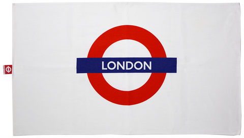 TFL6102 Licensed London Roundel Print Tea Towel - British Heritage Brands