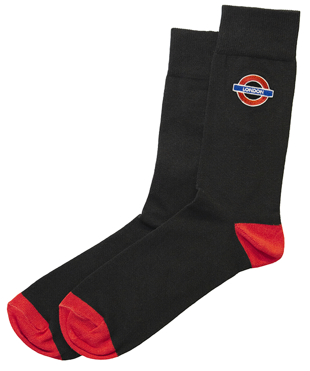 TFL6304 Mens Licensed London Roundel Embroidery Sock Size 6-11 - British Heritage Brands