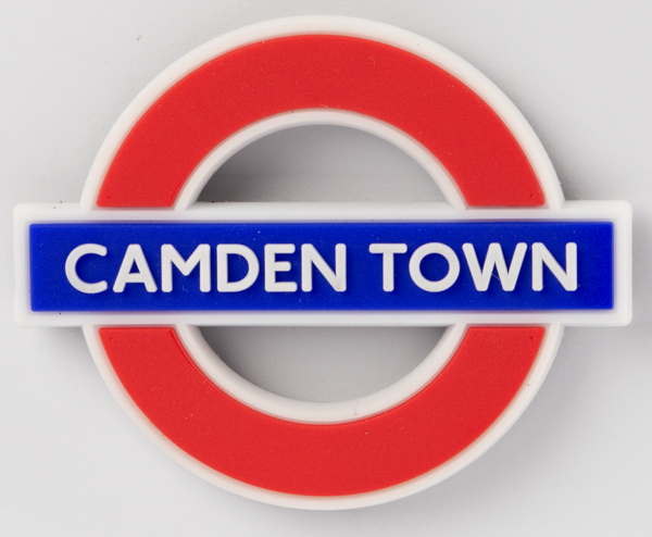 TFL3012 Licensed Camden Town Ductile/Rubber Fridge Magnet - British Heritage Brands