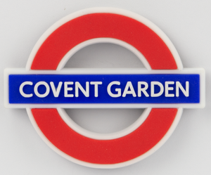 TFL3014 Licensed Covent Garden Ductile/Rubber Fridge Magnet - British Heritage Brands
