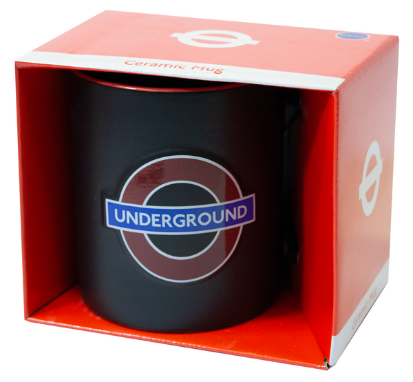 Licensed Official TFL Embossed Underground Ceramic Mug - British Heritage Brands