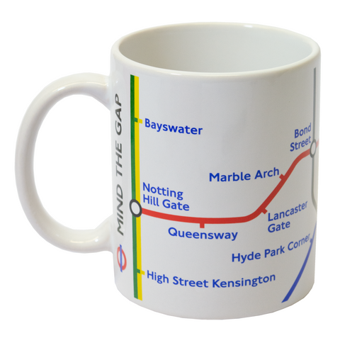 Licensed Official TFL London Underground Tube Map Mug White - British Heritage Brands