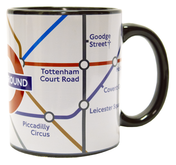 Licensed Official TFL Heat changing London Underground Tube Map Mug - British Heritage Brands