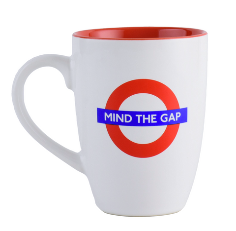 Licensed TFL Mind the Gap latte Mug - British Heritage Brands
